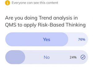 Pulse Survey- Risk based thinking